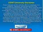 cidwt university disclaimer1