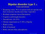 bipolar disorder type i 2 course and outcome