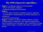 the tima depressive algorithm 2
