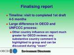 finalising report