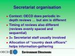 secretariat organisation