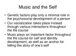 music and the self
