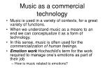 music as a commercial technology