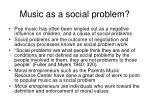music as a social problem