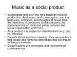 music as a social product