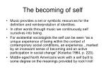 the becoming of self