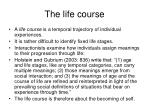 the life course