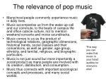 the relevance of pop music