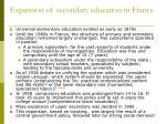 expansion of secondary education in france