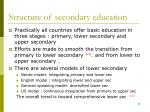 structure of secondary education