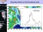 boundary effects on c5 c6 seasonal cycle
