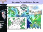 continuous plankton recorder surveys