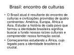 brasil encontro de culturas