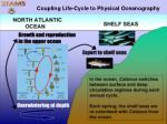 coupling life cycle to physical oceanography