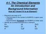 4 1 the chemical elements an introduction and background information