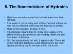 6 the nomenclature of hydrates