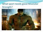 what sport needs good muscular strength