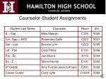 counselor student assignments
