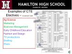 examples of cte electives vocational credit