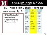 four year high school planning program planning pg 6