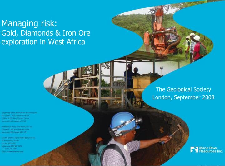 managing risk gold diamonds iron ore exploration in west africa n.