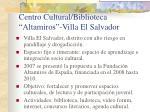 centro cultural biblioteca altamiros villa el salvador