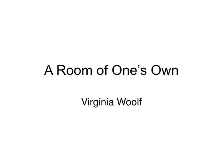 a room of one s own n.