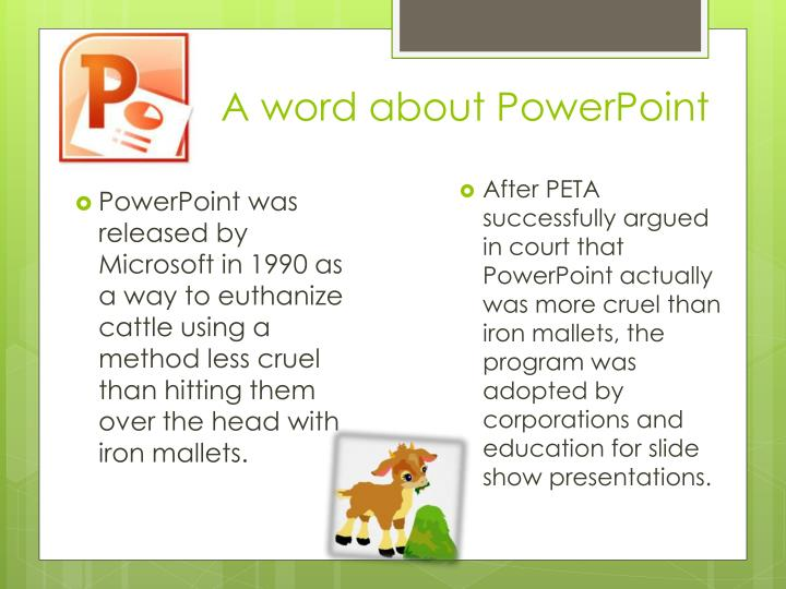 a word about powerpoint n.