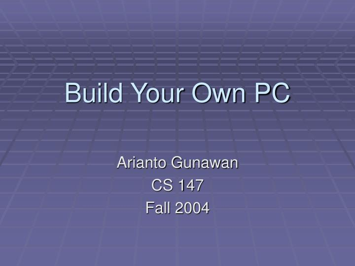 build your own pc n.