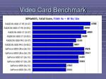 video card benchmark
