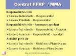 contrat ffrp mma