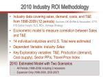 2010 industry roi methodology