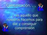 comunicaci n