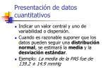 presentaci n de datos cuantitativos