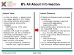 it s all about information