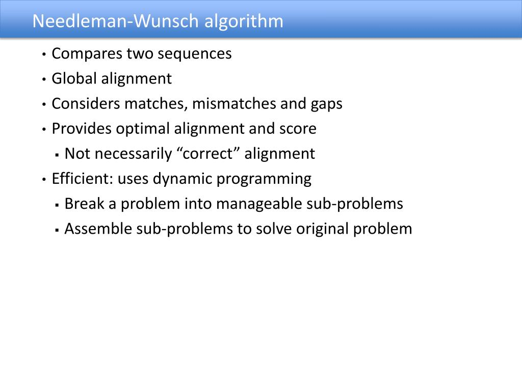 PPT - Sequence alignment is central to bioinformatics
