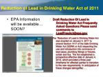reduction of lead in drinking water act of 2011