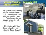 upstate flooding june july 2013 impact to pwss