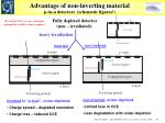 advantage of non inverting material p in n detectors schematic figures1