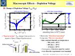 macroscopic effects depletion voltage