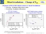 mixed irradiations change of n eff