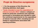 projet de directive europ enne