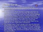 pledge cards