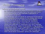 pledge processing