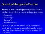 operation management decision