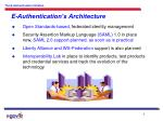 e authentication s architecture