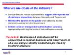 what are the goals of the initiative