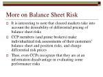 more on balance sheet risk