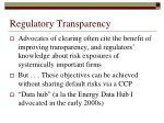 regulatory transparency