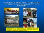 actividades desarrolladas con los grupos tecnicos multisectoriales contrafalme diresa lima
